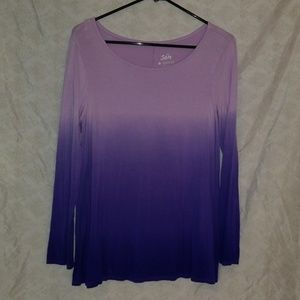 Justice longsleeve ombre top